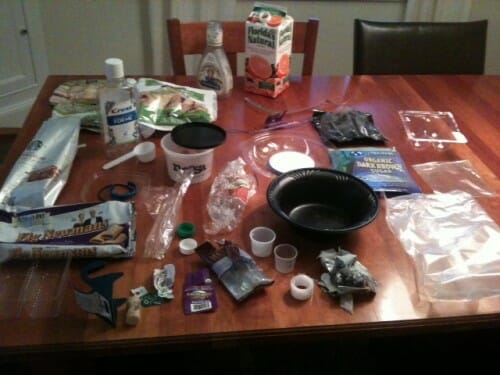 Plastic Challenge: Julie B, Week 1