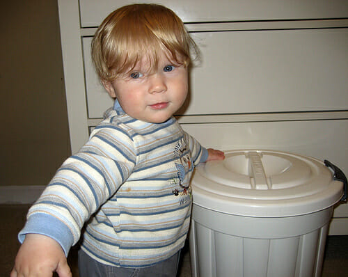 Jacob and his diaper pail