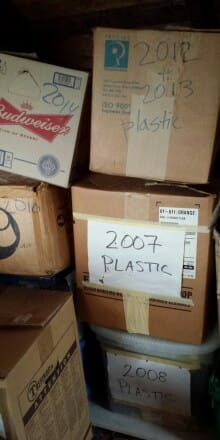 The plastic in my attic.
