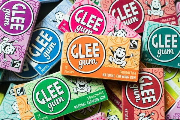 Flavors of Glee plastic-free chewing gum