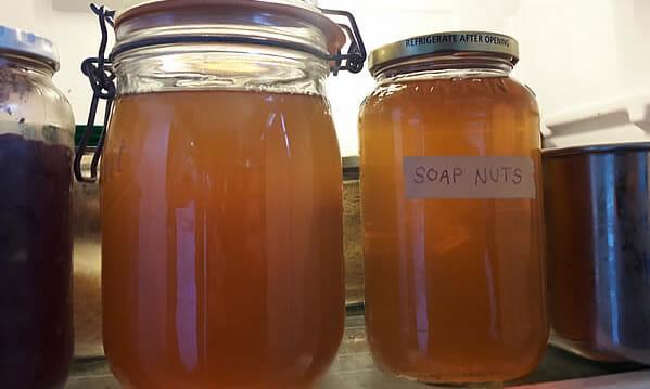 Soap nuts laundry liquid