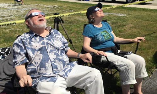 Watching the great solar eclipse 2017 Andrews NC