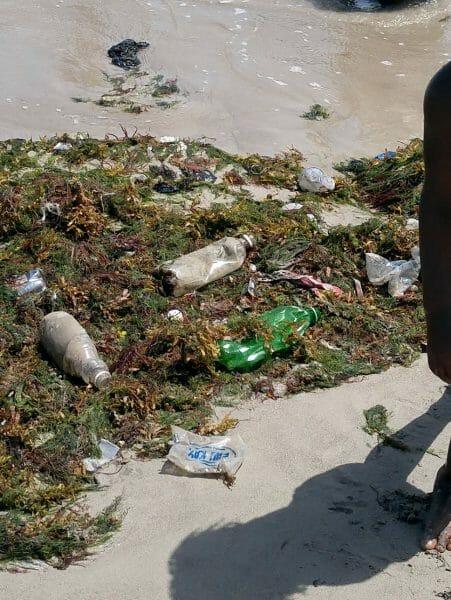 plastic trash beach Les Cayes Haiti