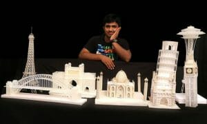 Sreenivasulu's Architectural Wonders from Reused Plastic Pen Refills