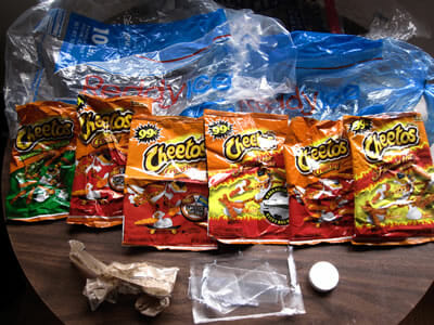 July 2010 Plastic Waste Tally, sponsored by Flamin' Hot Cheetos