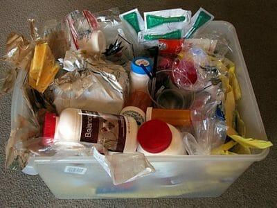 Beth's total 2010 plastic waste