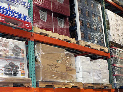 LDPE plastic pallet wrap at Costco