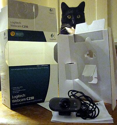 Logitech webcam 210 packaging