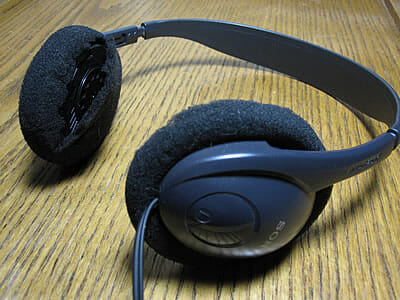 worn out headphones