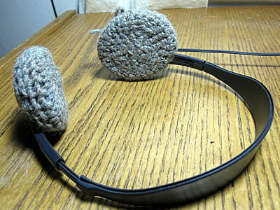 crocheted headphone ear pads