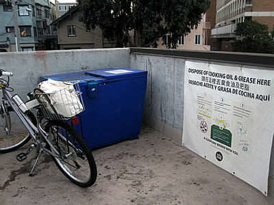 Oakland Whole Foods grease recycling station