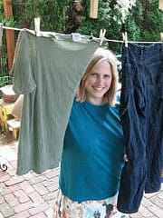 Katy Wolk-Stanley and her clothesline