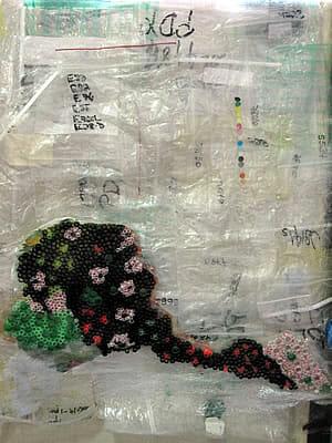 plastic quilt project