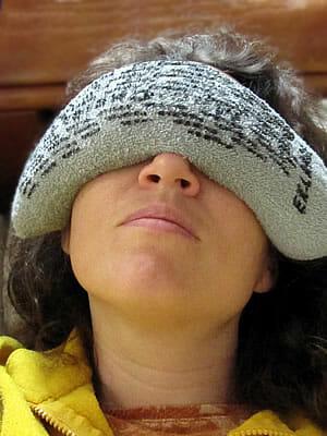 Rice sock for headache