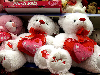 Valentine's Day plush bears