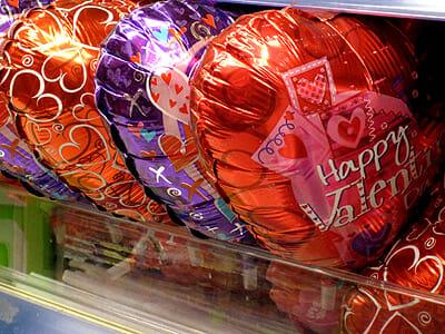 Valentine's Day Mylar heart balloons