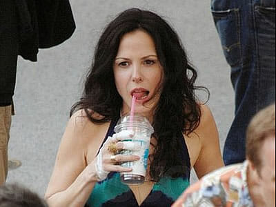 Weeds Mary Louise Parker iced coffee