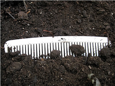 WheatWare Comb buried in ground